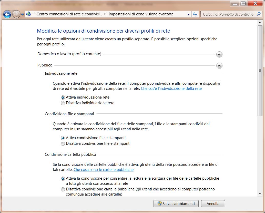 condividere cartella tra windows 7 e mac
